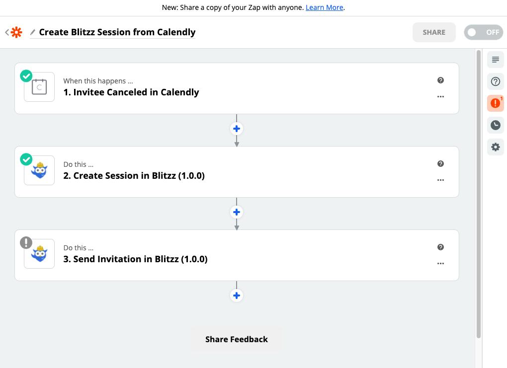 Blitzz + Zapier Integration 2